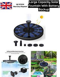 Solar Pond Pump with Battery Backup, 2.5W Solar Fountain Pump