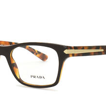 PRADA Eyeglasses Brown Havana 16S 52-18-140 New Authentic