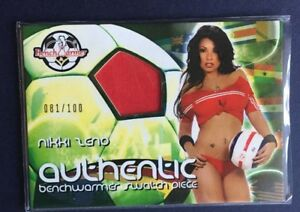 Benchwarmer 2006 Wordlcup Jersey Swatch Card #7 Of 12 Nikki Zeno 81/100