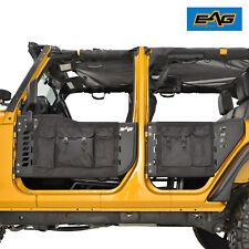 EAG Pocket Style 4 Tubular Doors With Mirrors for 07-18 Jeep Wrangler JK 4 Door