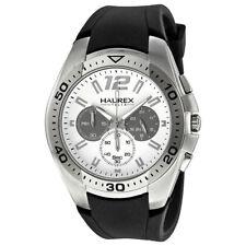 Haurex Italy Speed Chronograph White Dial Mens Watch 3A384UWG