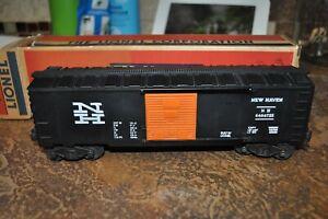 LIONEL POSTWAR 6464-725 BLACK NEW HAVEN BOX CAR C-8 UNRUN in 425 box