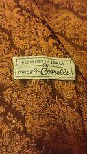 """Vintage, Angelo Correlli, Copper, Brocade Print, Neck Tie (61"""")"""