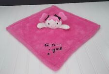 New ListingBaby Gear Glam Girl Lovey Security Blanket Pink Plush Embroidered Thick & Soft