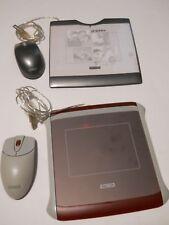 LOT WACOM graphire graphite CTE-430 / ruby ET-0405A-U drawing  tablet, mouse usb