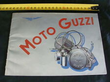 MOTO GUZZI BROCHURE DEPLIANT AIRONE SPORT FALCONE SUPER ALCE GALLETTO ERCOLE