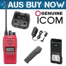 RED ICOM IC-41PRO 5W CB UHF TWO WAY RADIO IC 41 PRO PORTABLE HANDHELD HAND HELD