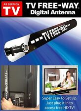 As Seen On TV Free-Way Clear HD Television Portable Digital Antenna Broadca
