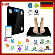 Bluetooth Personenwage APP Körperwaage Fitnesswaage Gewicht BMI Analyse 180kg BO