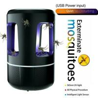 12V USB Mosquito Killer Lamp Insect Fly Bug Zapper Trap Pest LED Control UV F2X8
