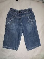 Next Girls Floral Embroider Cotton Jeans Size 3-6 Months