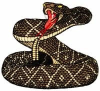 RATTLESNAKE Diamond Back Embroidered Iron on or sew on Patch/Applique SNAKE~