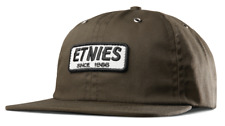 BRAND NEW WITH TAGS MENS ETNIES OLIVE SEAGER STRAPBACK CAP ONE SIZE