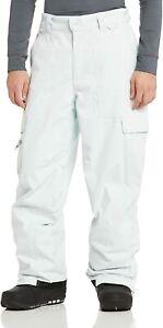 West Beach Men's ski pants snow pants snowboard, high leg, White, L