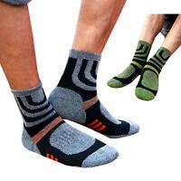 2 Pairs Men Socks Anti Blister Hiking Walking Running Climbing Compression Socks