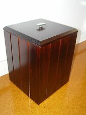 NEW  RUBBISH /WASTE BIN / BOX  STORAGE CONTAINER, SOLID TIMBER/WOODEN