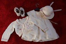 TOP! Supersüßes Kleid mit Jäckchen und Hut, für Hochzeit oder Taufe, Größe 92