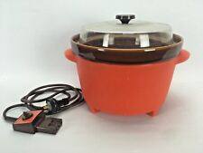 VINTAGE RETRO LARGE MONIER CROCK POT SLOW COOKER Australian Made 70's ORANGE