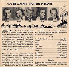 1955 TV AD~KINGS ROW~ROBERT HORTON~JACK KELLY~PEGGY WEBBER~NAN LESLIE~1st DRAMA