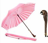 Disney Mary Poppins Returns Pink/ Pink Stripe Inverted Umbrella Parrot Handle