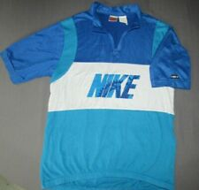 Men's Vintage Nike Gray Tag Blue 1/2 Zip Cycling Jersey Small