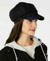 New INC International Concepts Women Knit Blue Tweed Mix Cap Hat Size One NWT