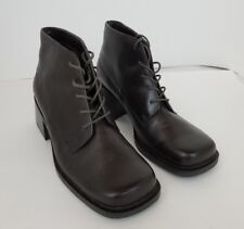 White Mt Womens Shoes Brown Ankle Boot Leather Upper Sz 7M Baylor Lace Up 3258Z