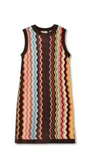 Target MISSONI COLLABORATION YEAR 2011 Brown Chevron Stripe Dress Womens XL  NWT