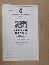 SVENSK - DANSK HOLDMATCH MAY 22nd 1977 SPEEDWAY PROGRAMME