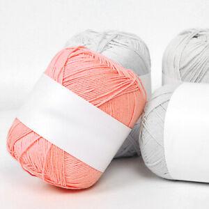 Double Knitting Wool Acrylic Baby Yarn 100g /Roll Soft Knit Crochet Multi Colors