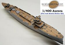 Wood Deck for 1/400 Aurora  (fits Ark Model/Heller kits) by Scaledecks [LCD-84]