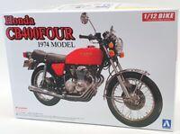 Aoshima 1/12 Scale Model Motorcycle Kit 7648 - 1974 Honda CB400 Four