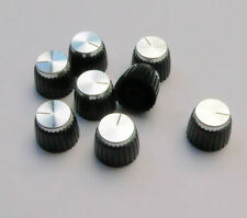 8 Silver Knobs for Marshall Amplifiers, push fit splined/split control shafts