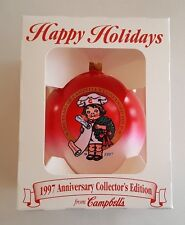 Campbells Soup 1997 CAMPBELL KIDS 100th Year Anniversary Christmas Ball Ornament