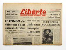 Liberté n°296 - 1963 - Quotidien du parti Communiste - Affaire Train Postal