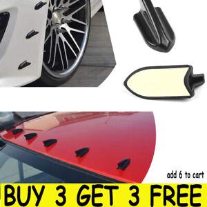Car Roof Shark Fins Spoiler Wing Kit Vortex Generator EVO Style Universal