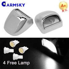 For 99-13 GMC Chevy  Sierra Silverado Chromed License Plate Light Lens FREE LAMP