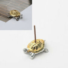 1holes alloy tortoise incense burner holder censer plate for sticks & cones Niu