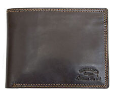 Brown nice quality soft tri-fold genuine leather wallet Luciano Pollini