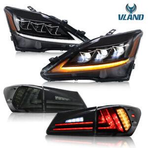 VLAND Phares & Feux arrière pour Lexus IS250 IS350 2006-2014 Full LED projecteur