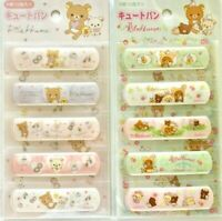Sanx-X Rilakkuma Adhesive Plaster Band-Aid 20 pieces Kawaii JAPAN Sterilized P&G