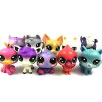 "Lot 10PCS Littlest Pet Shop Cat Dog animals 2"" figure hasbro LPS toy Xmas gift"