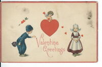 CH-038 Valentine Greetings, Cupid and Children Divided Back Postcard