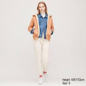 NEW Uniqlo Pink Cotton Fleece Lined Zip Hoodie Hooded Sweatshirt Jumper Size S