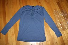 THELEES LONG SLEEVE HENLEY SHIRT   SIZE M  100% COTTON   NEW WITH TAGS