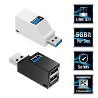 USB Port Adapter High Speed 3.0 Hub Multiple Splitter For PC Laptop OTG H3H2