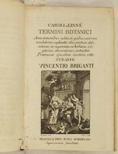CARLO LINNEO CAROLI A LINNE TERMINI BOTANICI VINCENZO BRIGANTI BOTANICA BOTANY
