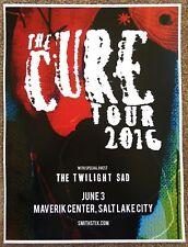 The Cure 2016 Gig Poster Salt Lake City Utah Concert