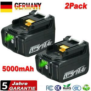 2x für Makita 14.4V Akku 5.0Ah BL1415 BL1430 BL1450 BL1440 194065-3 LED-Anzeige