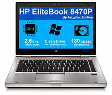 HP LAPTOP ELITEBOOK 8470p i5 2.6GHz 4GB  - 180 GB SSD Included!